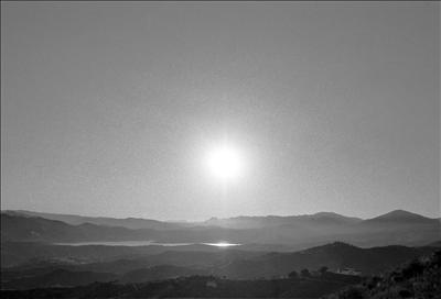 Sun over Lake Vinuela