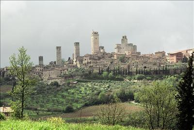 Storm Approaching San Gimignano