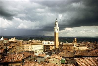 Siena storm clouds